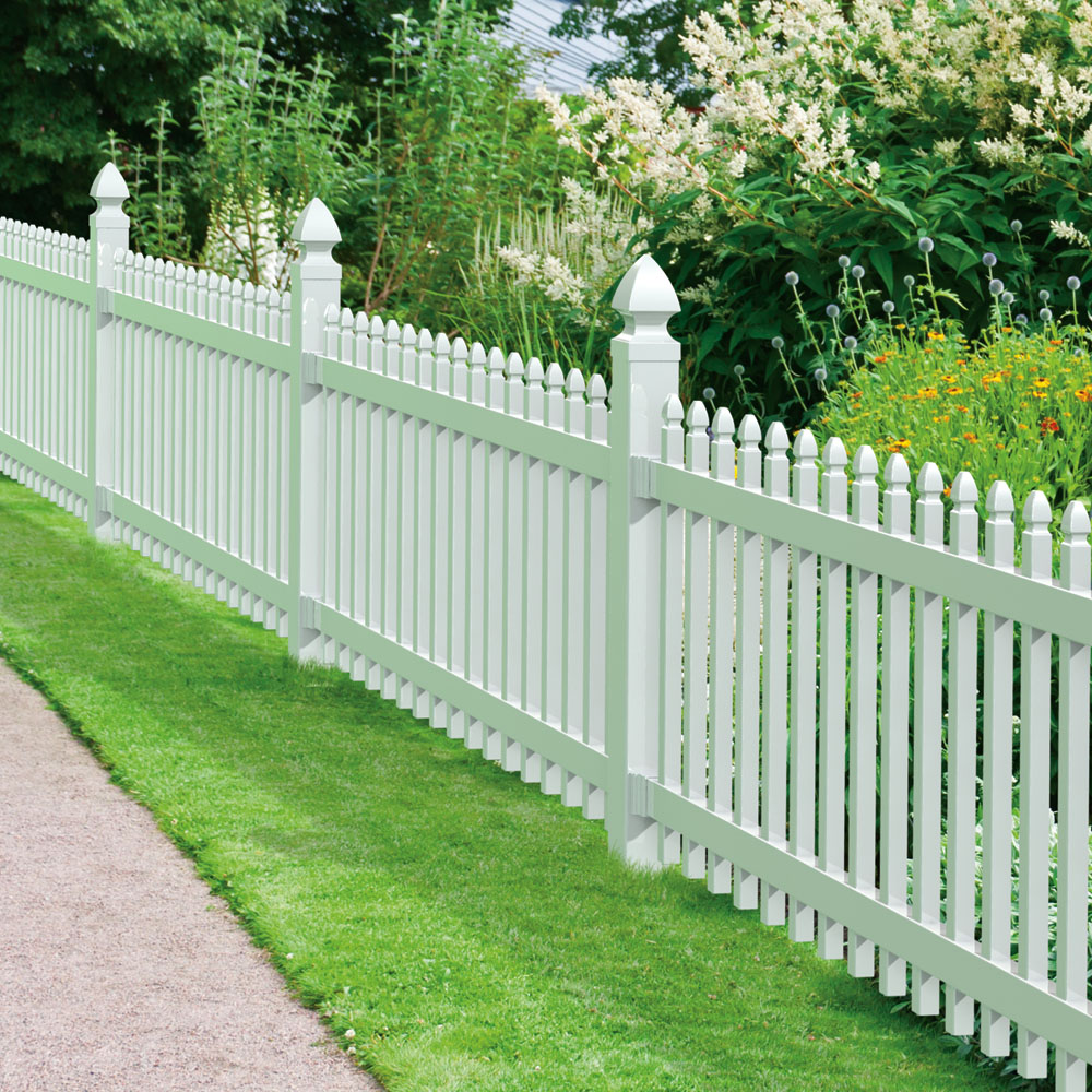 Newport vinyl fence panel freedom