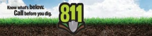 Call before you dig - 811 logo