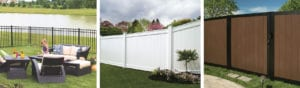 Fence Planning Ideas - image of aluminum, vinyl, and mixed material