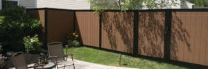 Backyard privacy fencing - mixed material