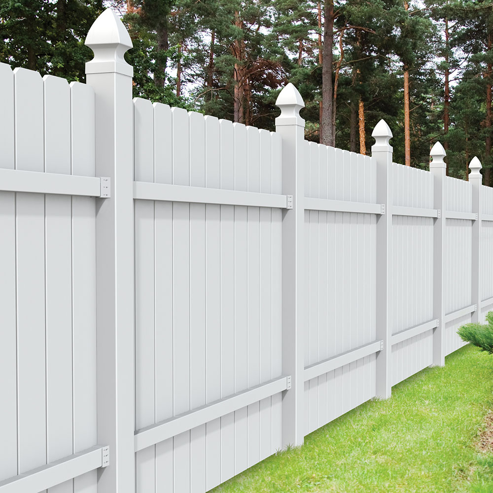 All American Dogear 6x6 Vinyl Fence Panel Vinyl Fence