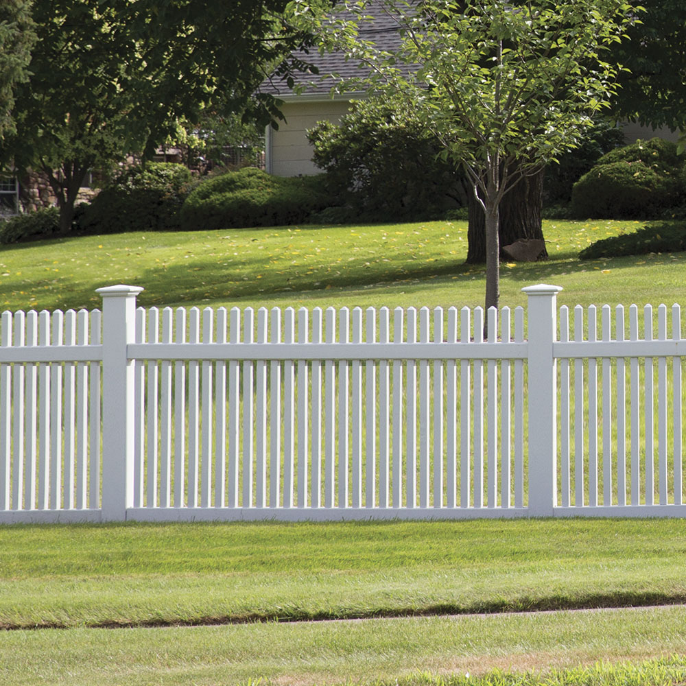 Keswick 4x8 Vinyl Picket Fence Kit Vinyl Fence Freedom