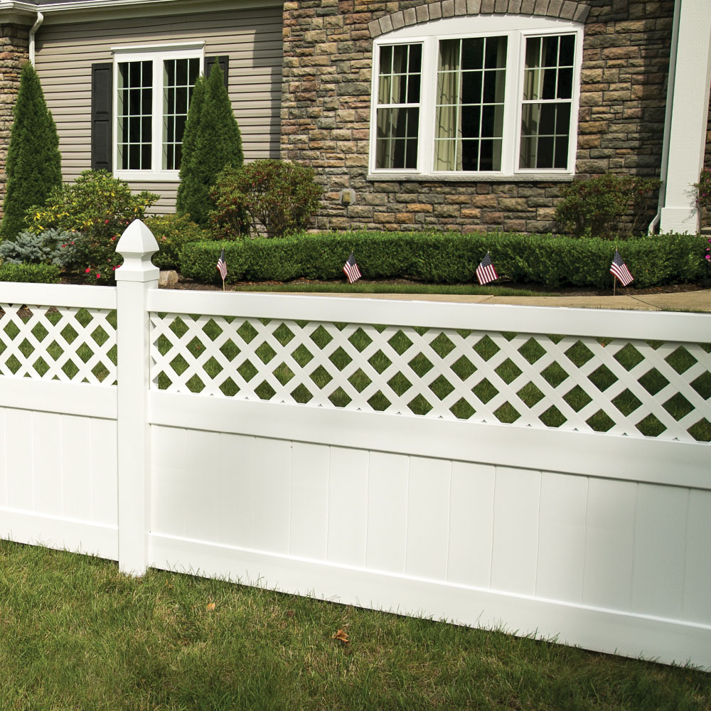 Conway 6x8 Lattice Top Vinyl Fence Kit Vinyl Fence