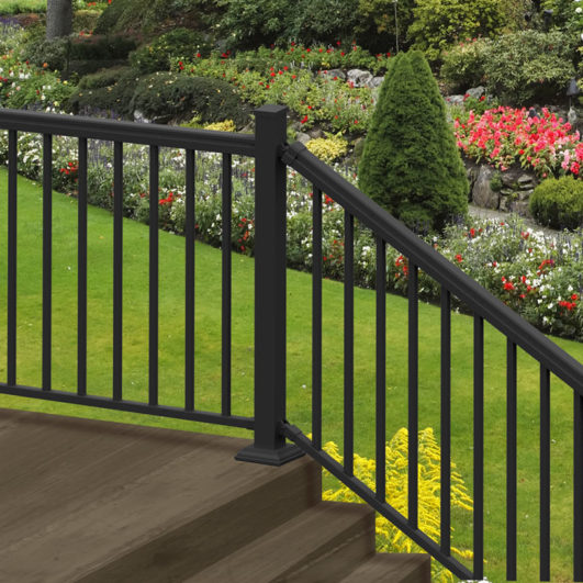 lowes metal baluster colors versarail ready to assemble aluminum stair rail kit aluminum